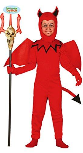 Guirca Teufel mit Flügeln Kinder Kostüm Gr. 98-146, Größe:110/116