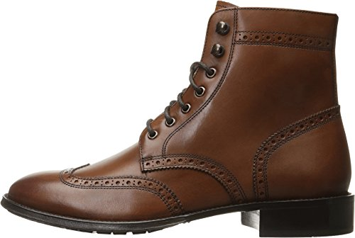 Florsheim Men's Capital Wingtip Lace up Boot, Cognac, 9 D US