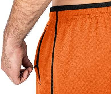 MAGNIVIT Men's Lightweight Sweatpants Loose Fit Open Bottom Mesh Athletic Pants with Zipper Pockets