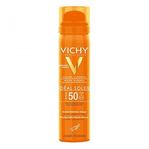 VICHY Idéal Soleil Erfrischendes Sonnenspray für das Gesicht LSF 50, 75 ml Lösung