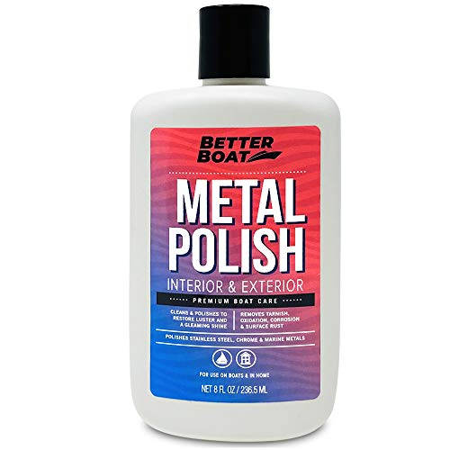 Metal Polish Metal Cleaner and Chrome Polish Marine Grade for Boats and Cars Aluminum and Stainless Steel