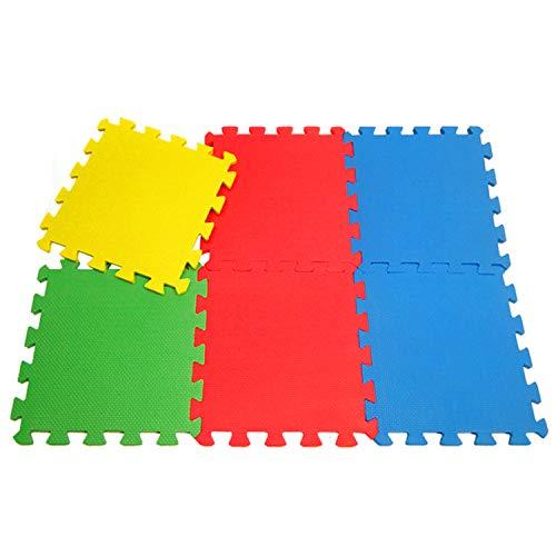 TU TENDENCIA ÚNICA Alfombra Puzzle Infantil para Bebés y Niños de Foam. Piezas Lisas de Colores Surtidos. Antideslizante (9 Piezas)