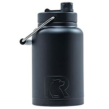 RTIC Jug Half Gallon Black Matte Vacuum Insulated Large Water Bottle with Handle