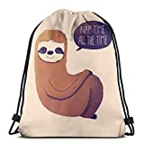 Clothing decoration Nap Time All The Time Drawstring Backpac