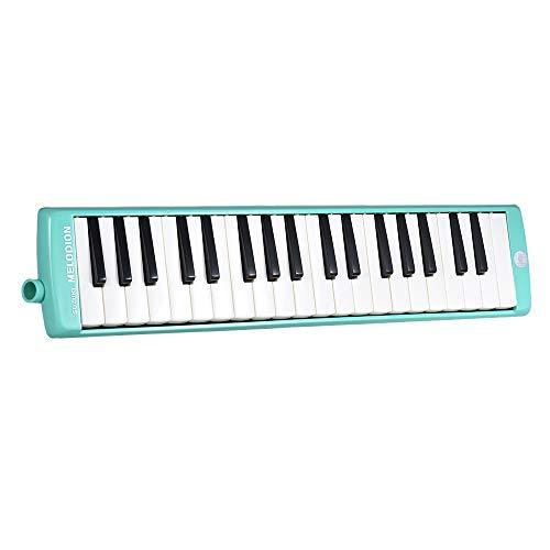 Bedler MX-37D 37-Tasten Melodion Melodica Pianica Musikinstrument mit langen und kurzen Mundstück Tragetasche Reinigungstuch für Studenten Kinder Kinder