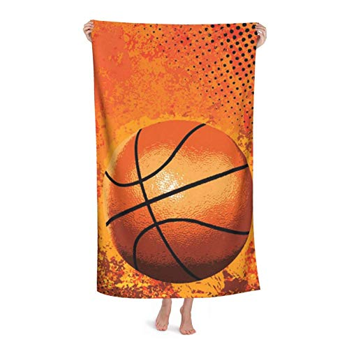 Toallas De Baño Baloncesto Grande Toalla Secado Rápido Towels Cuidado Fácil Toallas De Gimnasio por Viaje Piscina Baño 80X130 Cm
