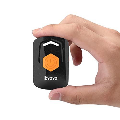 Eyoyo Mini 2D QR 1D Escáner de Código de Barras, Lector de Código de Barras con 3 Conexión Bluetooth 2.4G Inalámbrico y Cable USB Admite PDF417 Data Matrix para iOS, Android, Tableta y PC