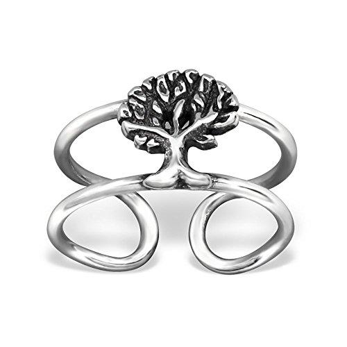 Bungsa© .925 Sterling Silver Baum Ear Cuff Ohrklemme (Ohrklemme Ear Cuff Ohrstecker Ohrring Echtschmuck Studs Ohrschmuck Clip-On Damen Frauen Herren)