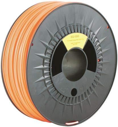 RS PRO 2.85mm Fluorescent Orange ABS 3D Printer Filament, 1kg