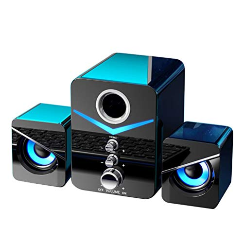 HDDFG Altavoces Multimedia Estéreo con Graves Envolventes De 3 Uds. (Color : Black no Bluetooth)