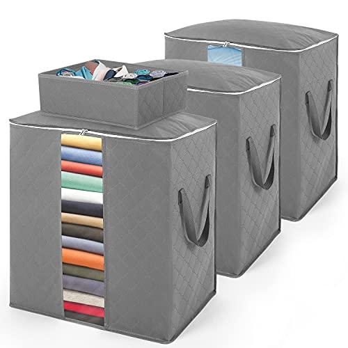 scatole per armadio offerte SOLEDI Scatole per Armadio 4 Pezzi Cambio Stagione Utilizzato per Organizzare Trapunte