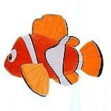 Wjfijz 1 Pieza Grande de Lindo muñeco de Peluche de pez Payaso Nemo, muñeco de Peluche Suave de pez Payaso, Regalo para niña, Regalo de cumpleaños para niños