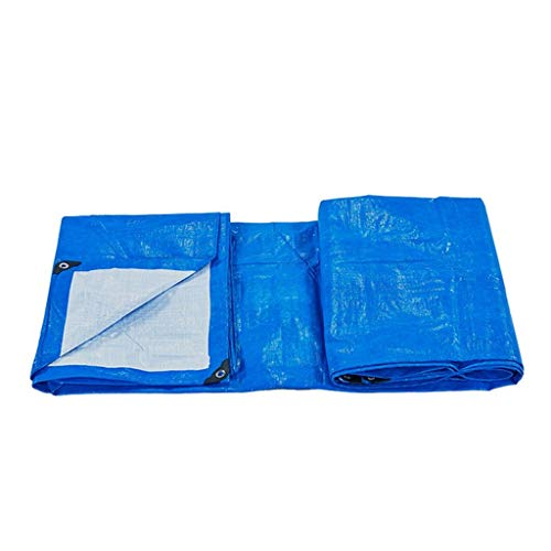 SJY High Quality Multi-Purpose Waterproof Tarpaulin Car Boat Roof Rain Cover Camping Trailer Tent Blue Tarp Sheet,Thickness 0.3Mm,170G/M²,11 Size Options for Camping Outdoor Travel,6Mx3M