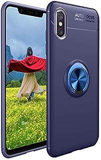 -Blue:イヴォ11/11指リングホルダー(青色)を回転360度のPro、耐震性抗スクラッチ落ち点TPUスリム保護カバーの電話ケース携帯電話アクセサリー