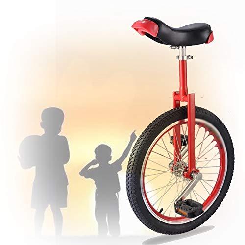 GAOYUY 16/18/20 Zoll Einrad, Konturierter Ergonomischer Sattel Bequem Und Einfach Zu Handhaben Für Anfänger Kinder Erwachsene Übung Spaß Fahrrad Fahrrad Fitness (Color : Red, Size : 16 inch)