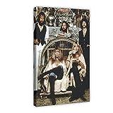 RBIX Póster de la estrella de la banda de rock Fleetwood Mac 4 en lienzo para decoración de la sala de estar, dormitorio, marco de 30 x 45 cm