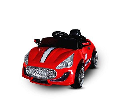 MEDIA WAVE store Macchina elettrica Rossa LT869 per Bambini Auto Sport monoposto luci e Suoni