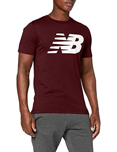 New Balance Camiseta clásica hombre, Hombre, Camiseta, MT03919, granate, XL