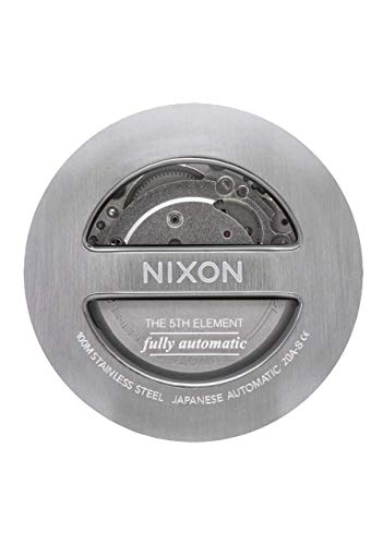NIXON 5th Element A1294 - Black - 100M Water Resistant Men's Automatic Watch (42mm Watch Face, 21mm-19mm Stainless Steel Three Link Band)