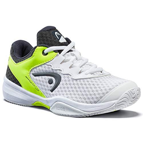 Head Sprint 3.0 Jnr, Zapatillas de Tenis Unisex Niños, Blanco (White/Navy Yellow Whny), 34 EU