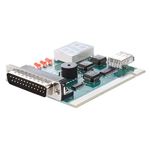 TOOGOO Placa Madre USB & PCI Analizador Medidor Tarjeta de...
