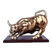 彫像と置物彫像の装飾の彫刻の彫像Animalb牛の家の装飾の彫刻樹脂レトロな彫像の装飾