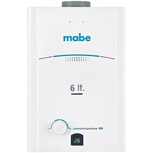Mabe CMP60TNBL Calentador de Agua Gas, 1 Servicio, 6 l, color Blan