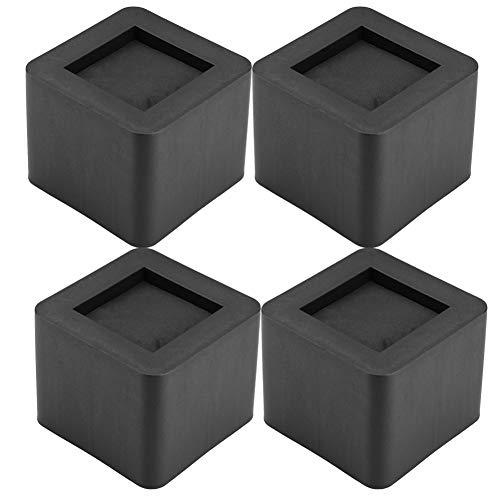 Cocoarm Alicates para Muebles, 4 Piezas Resistentes Cuadrados para elevadores de Patas para sofá o Mesa, 4,13 x 4,13 x 3,34 Pulgadas, Negro, 10.5X 10.5X 8.5cm