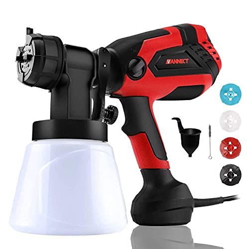 Paint Sprayer, 700 Watt High Power Home Electric Spray Gun, 4 Nozzle Sizes, Lightweight, Easy Spraying and Cleaning Perfect for Tables, Chairs, Fences, Interior Walls and Crafts…