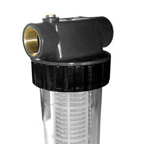 Grafner® Vorfilter lang mit Einsatz für Hauswasserwerke und Gartenpumpen 1