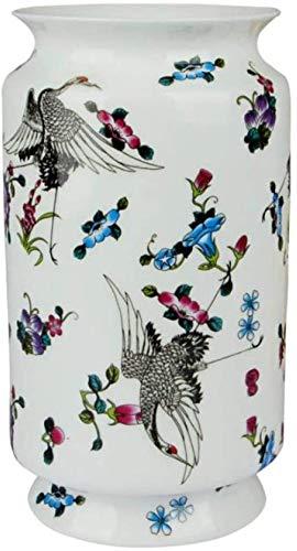 Vaas decoratie Antique Jingdezhen Vaas met Bloemen en Vogel Patterns keramische tafel Vaas Porselein decoratieve vaas, 2,3 (Color : 3)