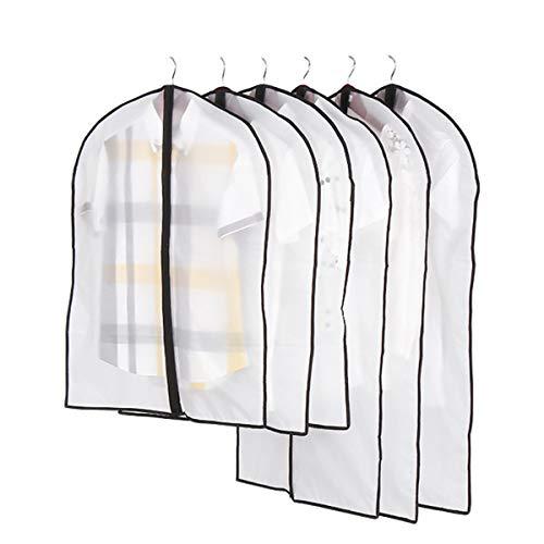 ExcLent Kunststoff-Kleidungsabdeckungen Durchsichtige Staubdichte Stoffabdeckung Anzug Kleidungsstück Aufbewahrungsbeutel Schutzfolie - XL