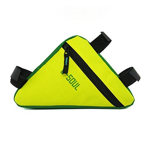 VORCOOL Fahrrad Rahmentasche Fahrradtasche Radtaschen für E-Bike Rennrad MTB BMX (Gelb und Grün)