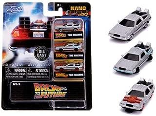 Jada Toys Back to The Future Time Machine Delorean Bttf 3 Pack Nano 1.65