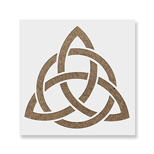Celtic Triquetra Knot Stencil - Reusable Stencils for Painting - Mylar Stencil for Crafts and Decorations