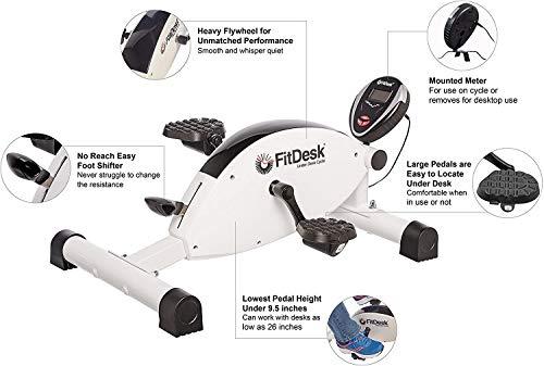 FitDesk Under Desk Mini Exercise Bike