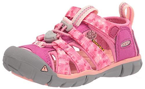 KEEN Seacamp 2 CNX Sandalias de punta cerrada, muy baya/clavel rosa, 12 EE. UU. Unisex niño pequeño