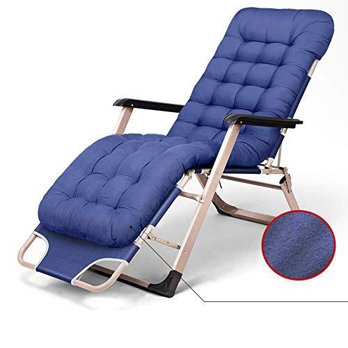 HUAXUE ZHXZHXMY Mobiliario de Ocio para el hogar Salón sillas Plegables Oficina Pausa for el Almuerzo for sillas portátiles sillas al Aire Libre Jardín Playa, cojín del Asiento extraíble (Color: C)