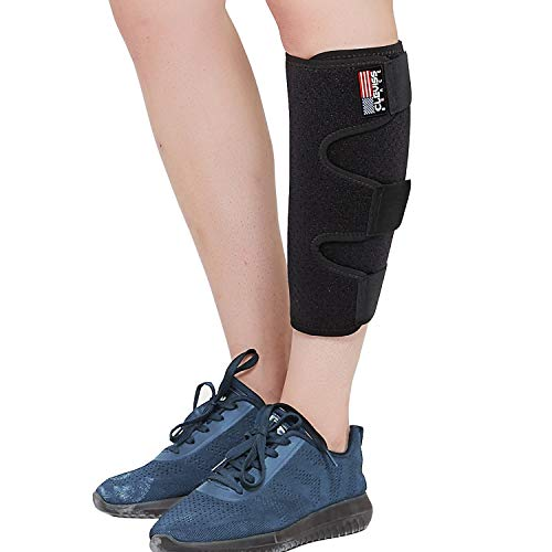 ClevissBrace Calf Support Brace for Torn Calf Muscle, Adjustable Shin Splint for Strain, Sprain, Pain Relief, Tennis Leg, Injury Neoprene Lower Leg Calf Compression Wrap, Calf Sleeve for Men and Women