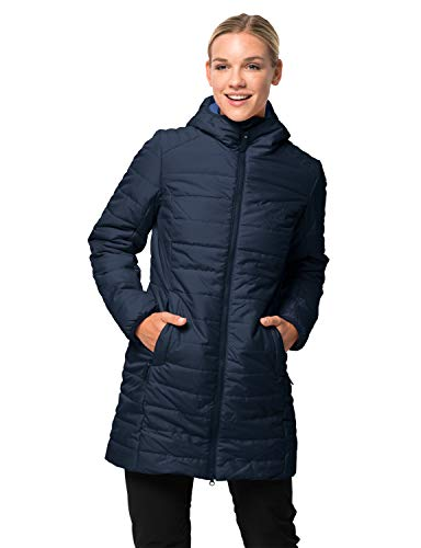 Jack Wolfskin Damen Maryland Coat Steppmantel Winddicht Wasserabweisend Atmungsaktiv Mantel, Blau (midnight blau), 2XL