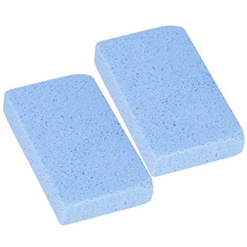 Doitool 2 Piezas Parrilla Ladrillo Barbacoa Barbacoa Limpieza Reutilizable Barbacoa Limpieza Ladrillo Asar Herramientas de Limpieza para Parrillas de Cocina Fumadores (Azul)