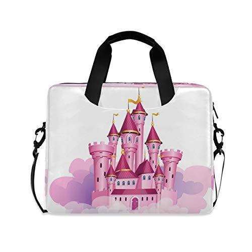 Pink Princess Magic Castle 15.6' 16' Laptop Case Sleeve Briefcase Computer Shoulder Bag W/Strap