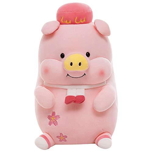 Encantadora muñeca de Cerdo Super Suave Peluche de Juguete de Felpa Creativa Chica Almohada para Dormir decoración de habitación Infantil 45cm Rosa