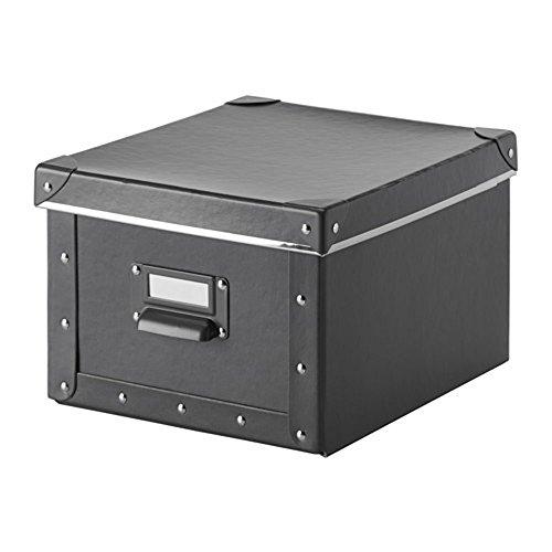 Ikea FJALLA Magazine File Office//Home Storage Steel//Paper Set of 4 Dark Gray