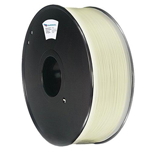 Surreal Pure ABS 3D Printer Filament 1.75mm - 1KG spool, Natural