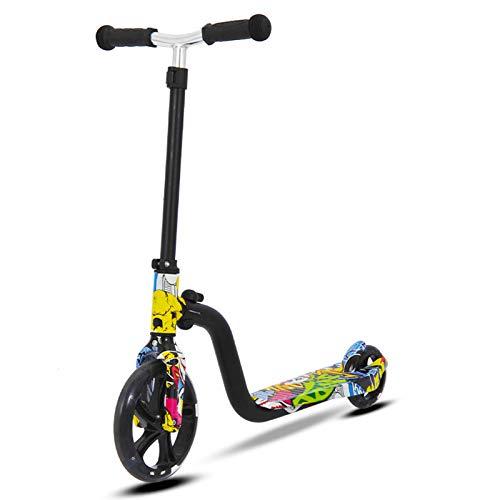 QBLDX Bicicleta de Equilibrio - Scooter de Dos Ruedas, Altura Ajustable, Dirección Flexible, Scooter Iluminado Resistente y Duradero,01