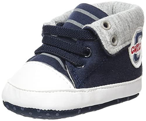 Chicco Polacchino Noviglio per Neonato, Scarpe da Bambini Bimbo 0-24, Blu, 17 EU