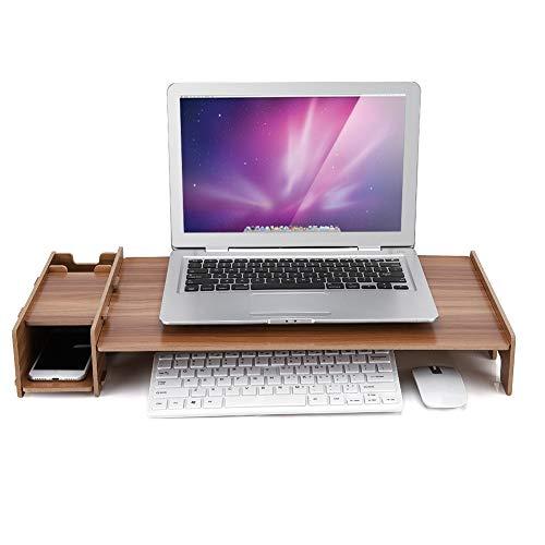 SCHUHREGALE Estante de madera para almacenamiento de oficina, monitor de escritorio, ordenador portátil, organizador de madera gruesa