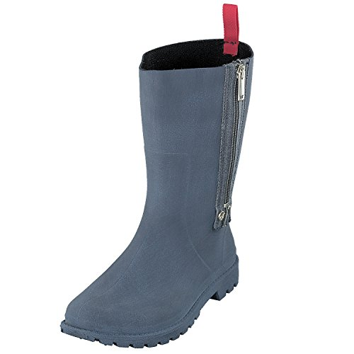 GOSCH SHOES Damen Schuhe Stiefel Gummistiefel Reißverschluss 7108-340 in 3 Farben (40, Blau)