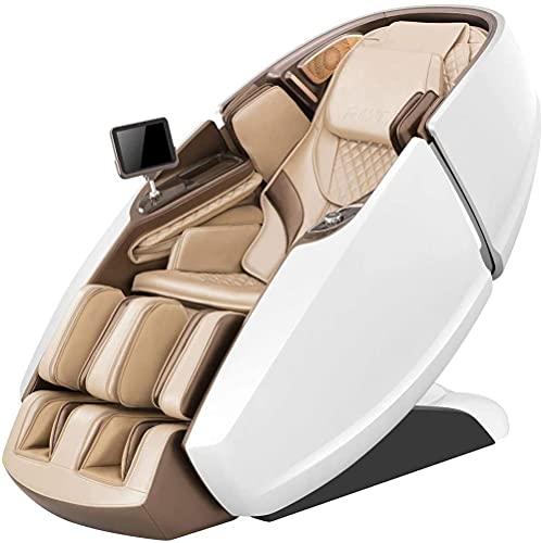 LHMYHJR 3D-Massage-Massage-Mechanismus-Body-Massage-Stuhl-Recliner mit Stretching-Funktion Bewegliche Kälber-Massageeinheit Abdeckungen bis Knies Musik Bluetooth-EIN